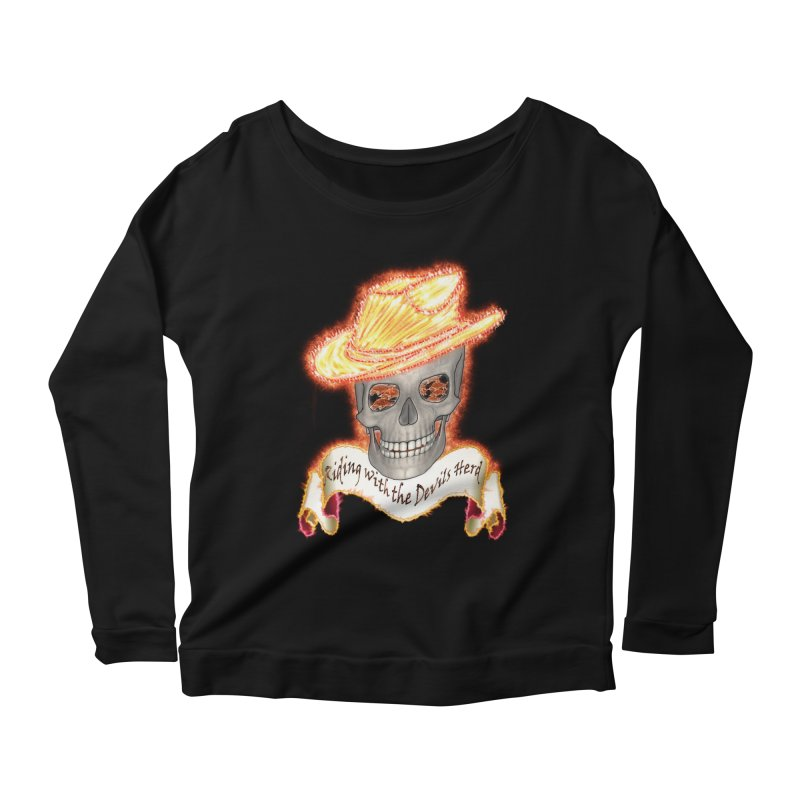 The Devils herd Women's Scoop Neck Longsleeve T-Shirt by nicolekieferdesign's Artist Shop