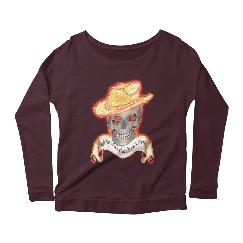 The Devils herd Women's Scoop Neck Longsleeve T-Shirt by nicolekieferdesign's Artist Shop