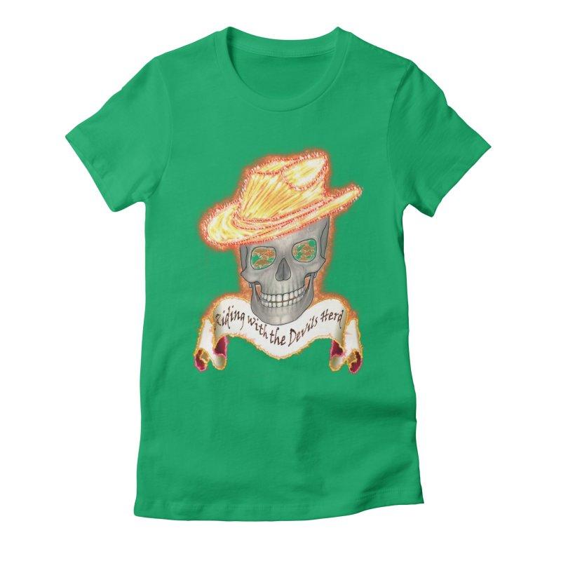 The Devils herd Women's Fitted T-Shirt by nicolekieferdesign's Artist Shop