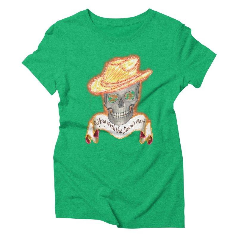 The Devils herd Women's Triblend T-Shirt by nicolekieferdesign's Artist Shop