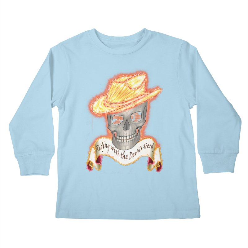The Devils herd Kids Longsleeve T-Shirt by nicolekieferdesign's Artist Shop