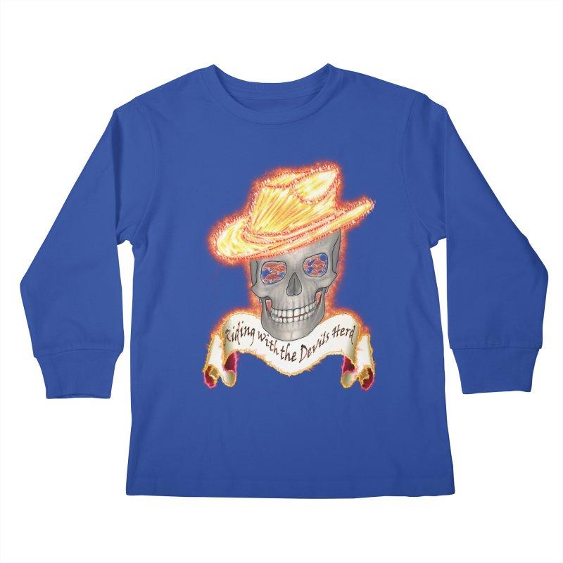 The Devils herd Kids Longsleeve T-Shirt by nicolekieferdesign's Artist Shop