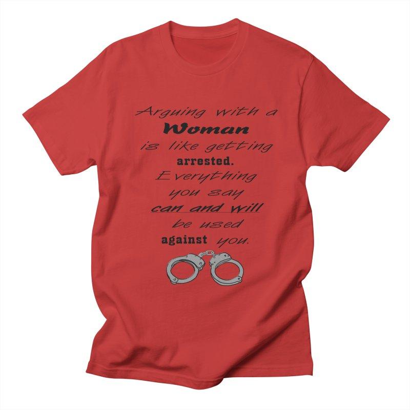 Argument and Arrest Men's T-Shirt by nicolekieferdesign's Artist Shop