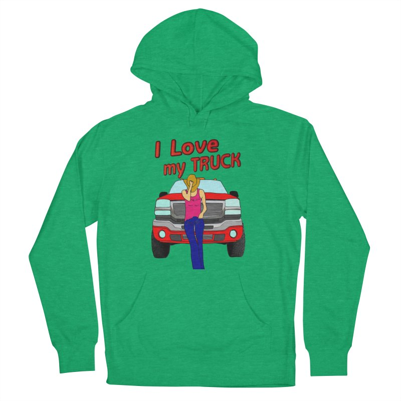 Girls love Trucks Women's French Terry Pullover Hoody by nicolekieferdesign's Artist Shop