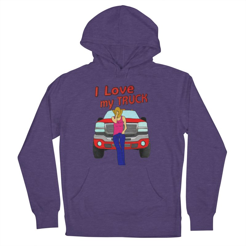 Girls love Trucks Men's French Terry Pullover Hoody by nicolekieferdesign's Artist Shop