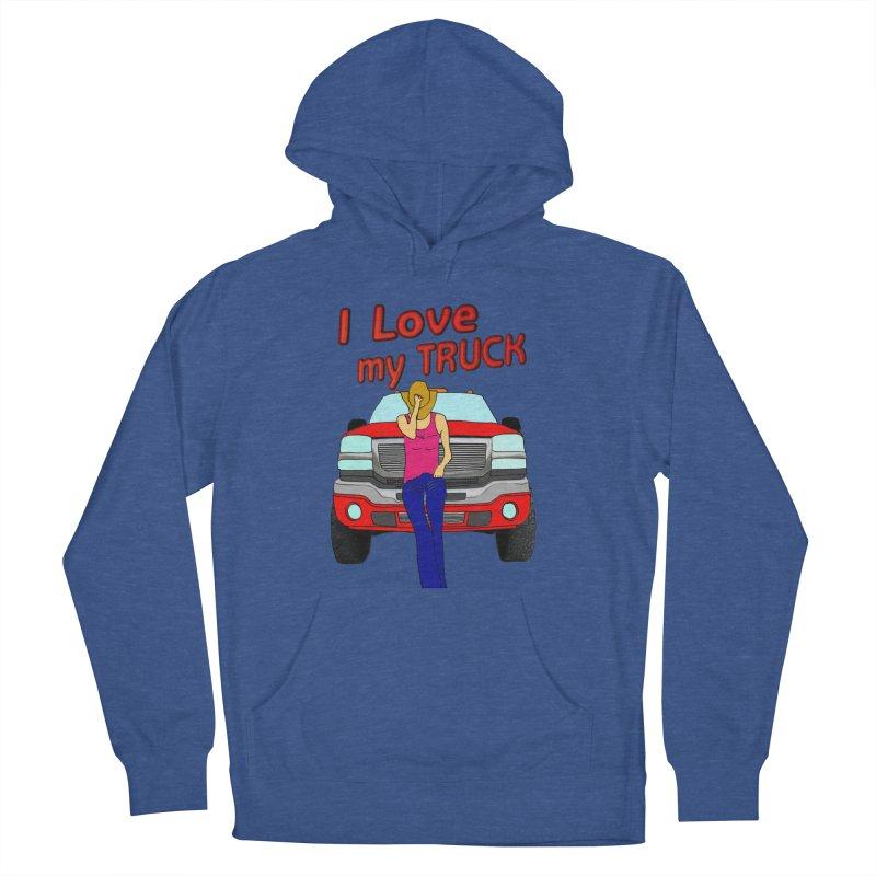 Girls love Trucks Men's French Terry Pullover Hoody by nicolekieferdesign's Artist Shop