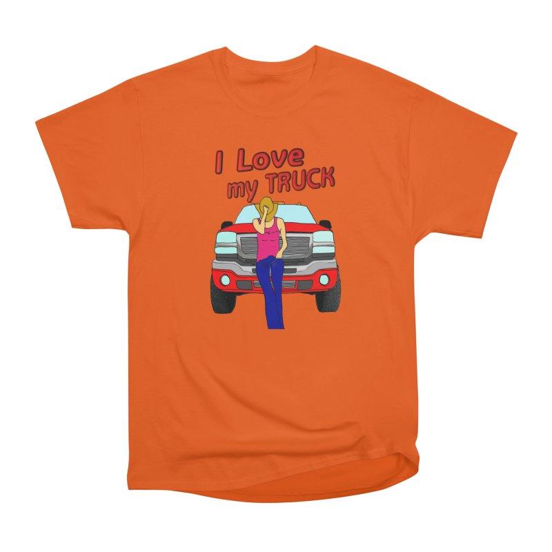 Girls love Trucks Men's Heavyweight T-Shirt by nicolekieferdesign's Artist Shop