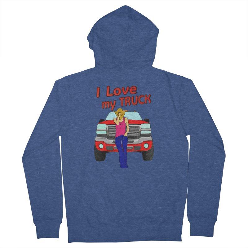 Girls love Trucks Women's French Terry Zip-Up Hoody by nicolekieferdesign's Artist Shop