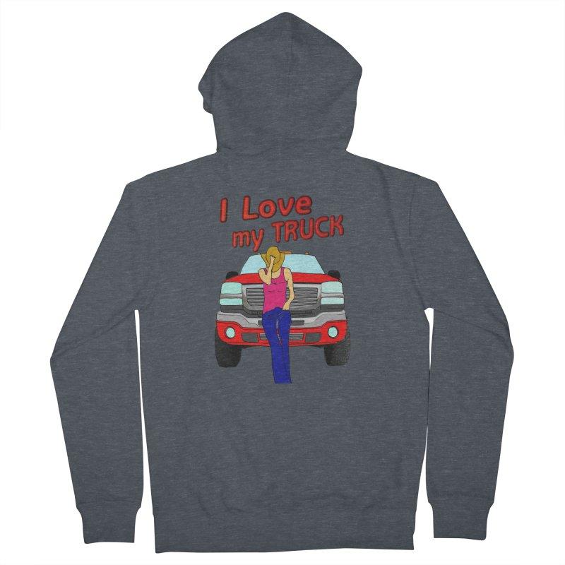Girls love Trucks Men's French Terry Zip-Up Hoody by nicolekieferdesign's Artist Shop