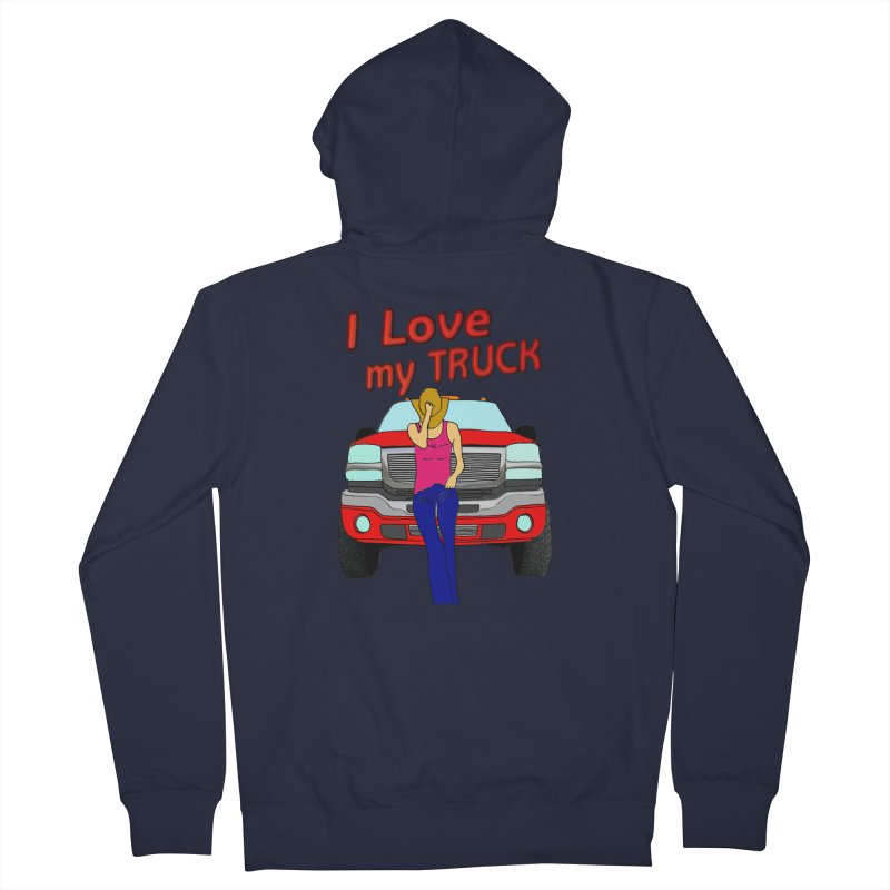Girls love Trucks Men's Zip-Up Hoody by nicolekieferdesign's Artist Shop