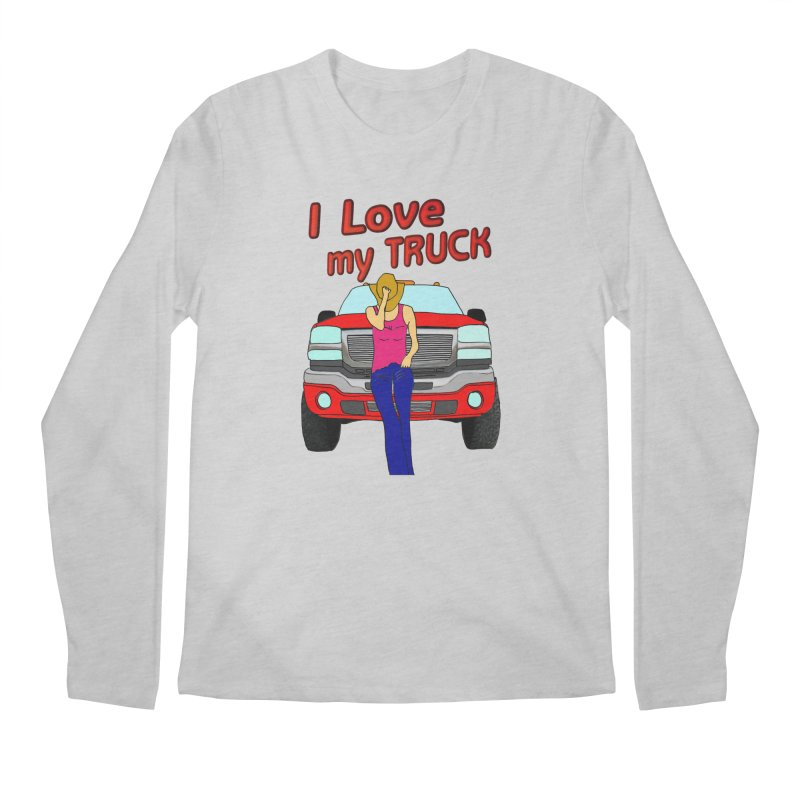 Girls love Trucks Men's Regular Longsleeve T-Shirt by nicolekieferdesign's Artist Shop