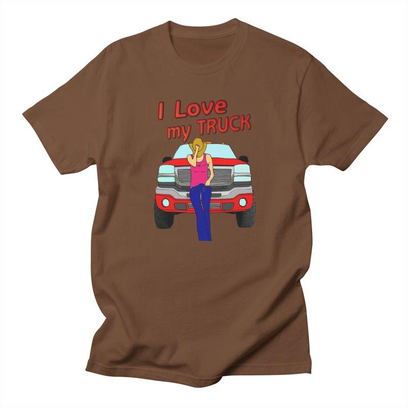 Girls love Trucks Men's T-Shirt by nicolekieferdesign's Artist Shop