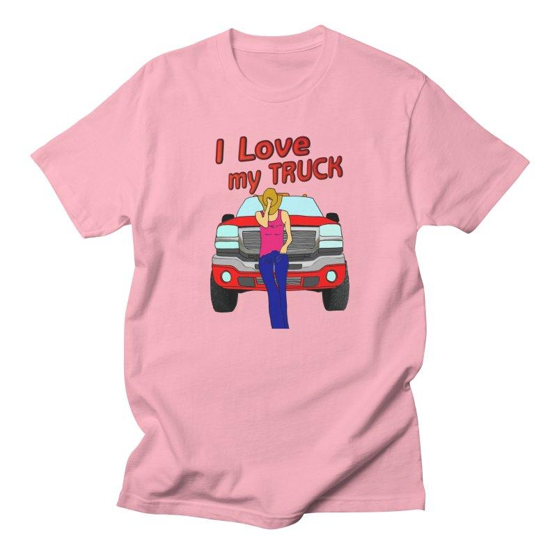 Girls love Trucks Women's Regular Unisex T-Shirt by nicolekieferdesign's Artist Shop