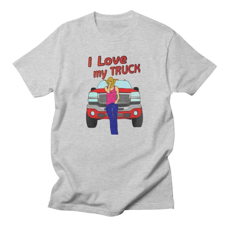 Girls love Trucks Men's Regular T-Shirt by nicolekieferdesign's Artist Shop