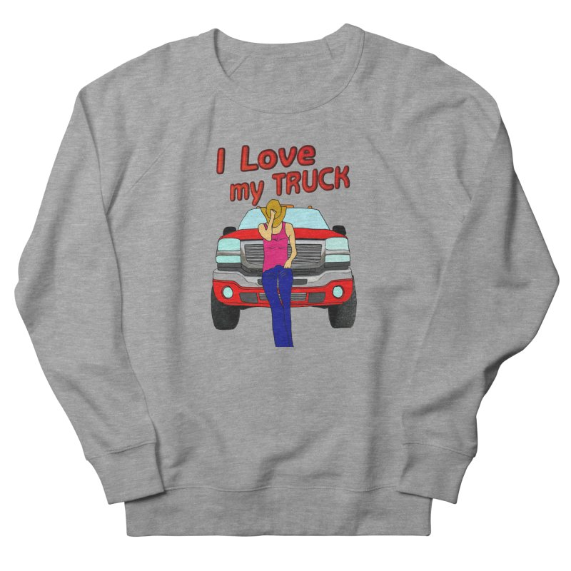 Girls love Trucks Women's French Terry Sweatshirt by nicolekieferdesign's Artist Shop