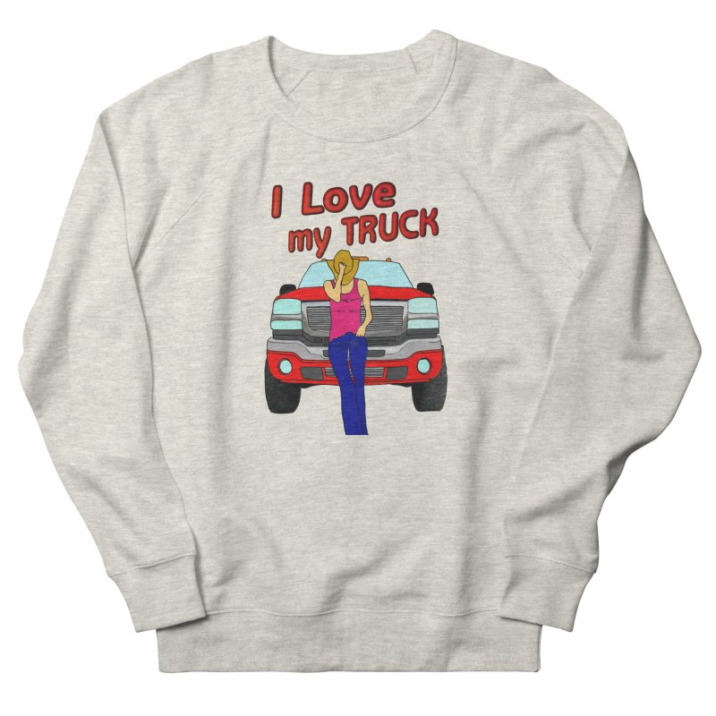 Girls love Trucks Women's Sweatshirt by nicolekieferdesign's Artist Shop