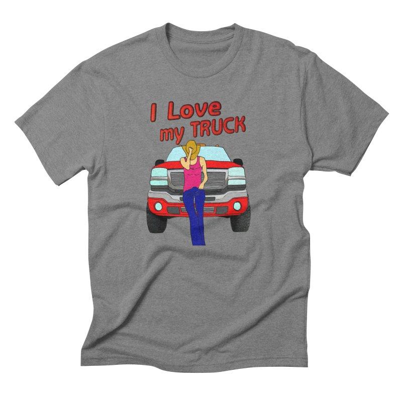 Girls love Trucks Men's Triblend T-Shirt by nicolekieferdesign's Artist Shop