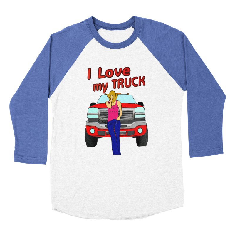 Girls love Trucks Women's Baseball Triblend Longsleeve T-Shirt by nicolekieferdesign's Artist Shop