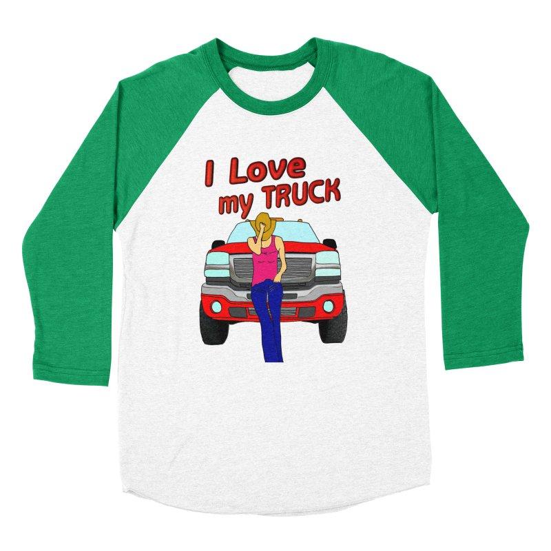 Girls love Trucks Women's Baseball Triblend Longsleeve T-Shirt by nicolekieferdesign's Artist Shop