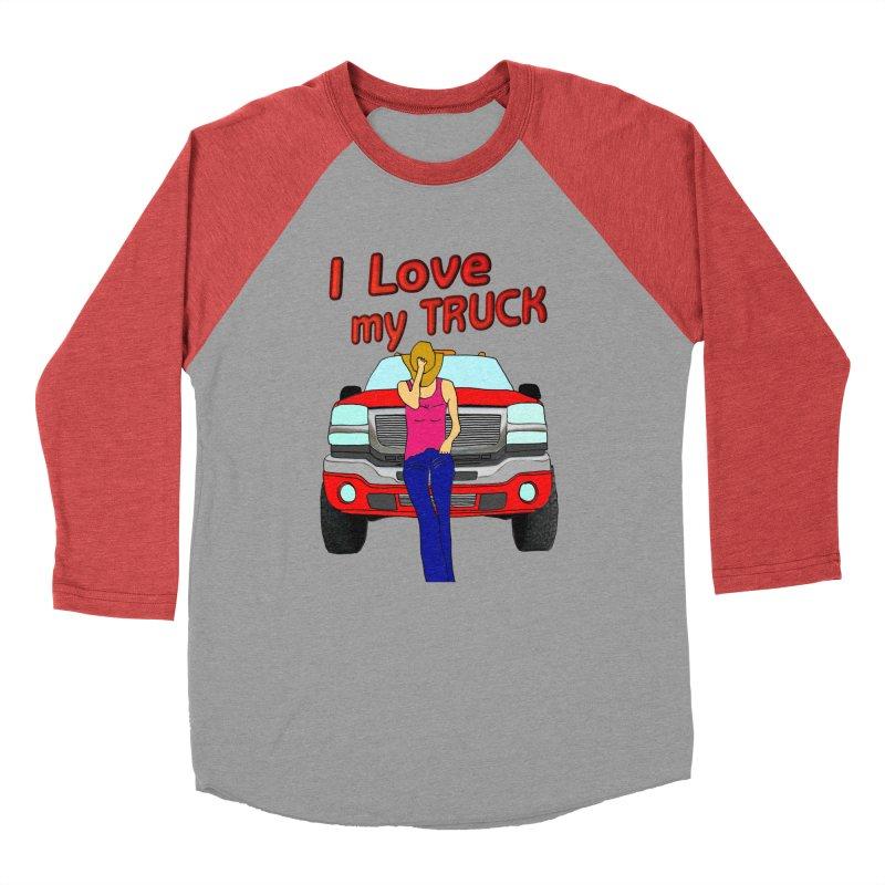 Girls love Trucks Men's Baseball Triblend Longsleeve T-Shirt by nicolekieferdesign's Artist Shop