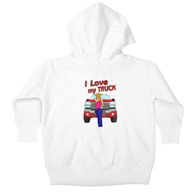 Girls love Trucks Kids Baby Zip-Up Hoody by nicolekieferdesign's Artist Shop