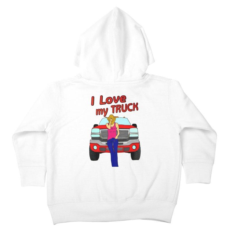 Girls love Trucks Kids Toddler Zip-Up Hoody by nicolekieferdesign's Artist Shop