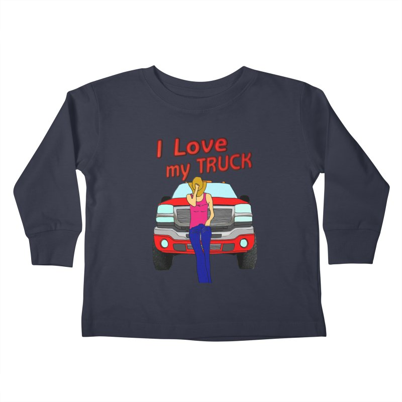 Girls love Trucks Kids Toddler Longsleeve T-Shirt by nicolekieferdesign's Artist Shop