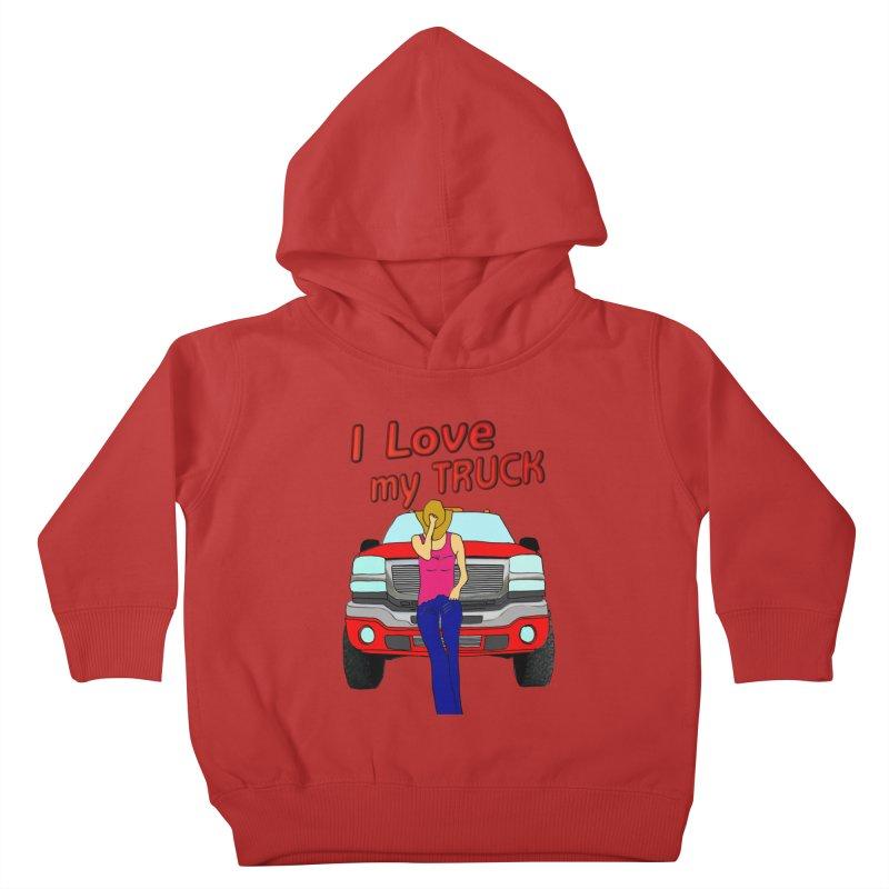 Girls love Trucks Kids Toddler Pullover Hoody by nicolekieferdesign's Artist Shop