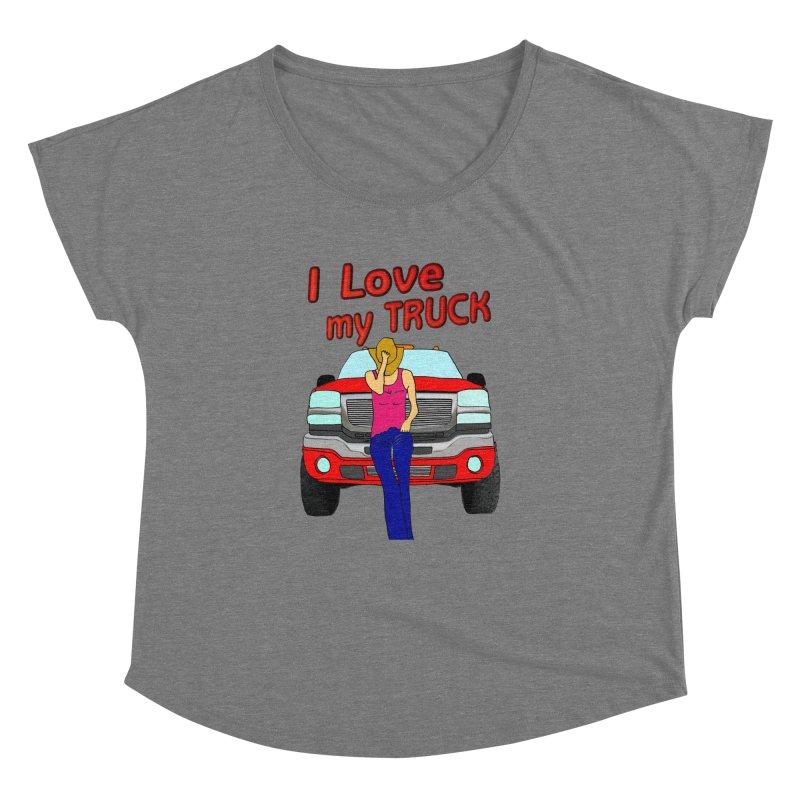 Girls love Trucks Women's Dolman Scoop Neck by nicolekieferdesign's Artist Shop
