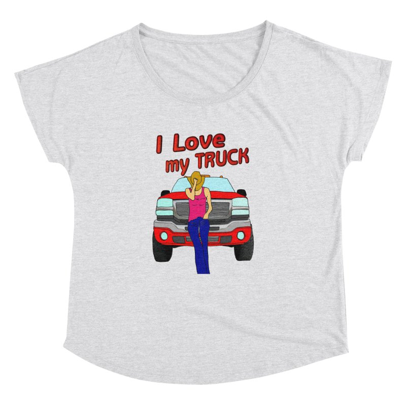 Girls love Trucks Women's Dolman by nicolekieferdesign's Artist Shop