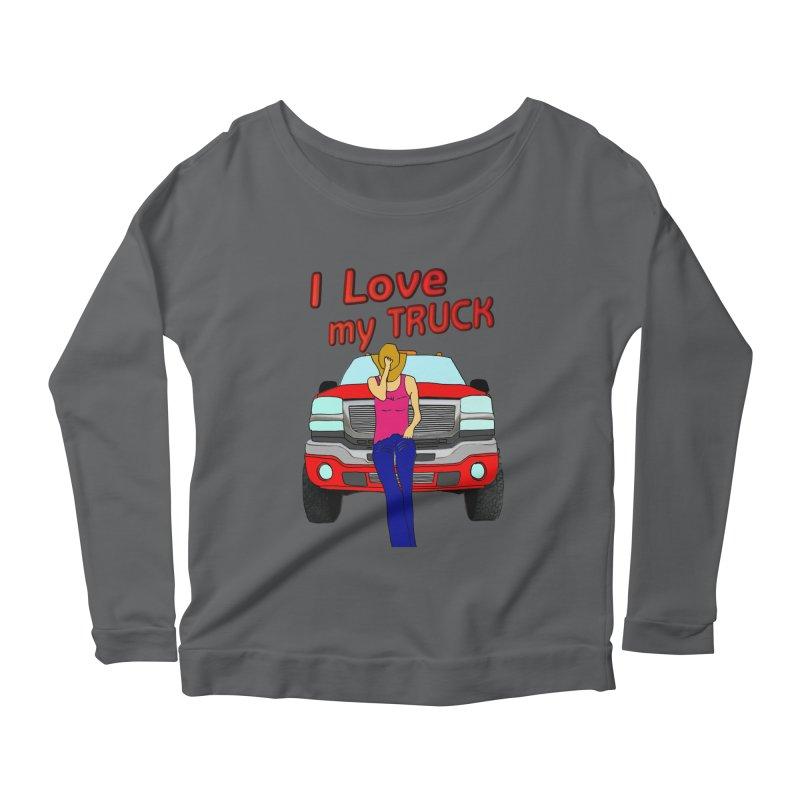 Girls love Trucks Women's Scoop Neck Longsleeve T-Shirt by nicolekieferdesign's Artist Shop