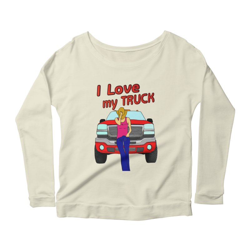Girls love Trucks Women's Scoop Neck Longsleeve T-Shirt by nicolekieferdesign's Artist Shop