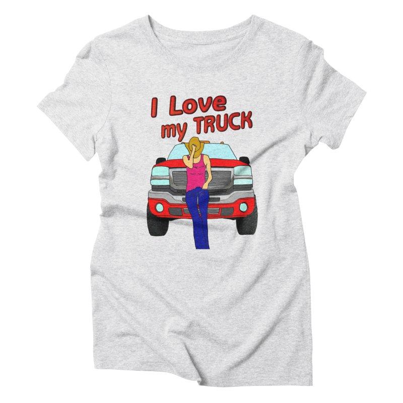 Girls love Trucks Women's Triblend T-Shirt by nicolekieferdesign's Artist Shop