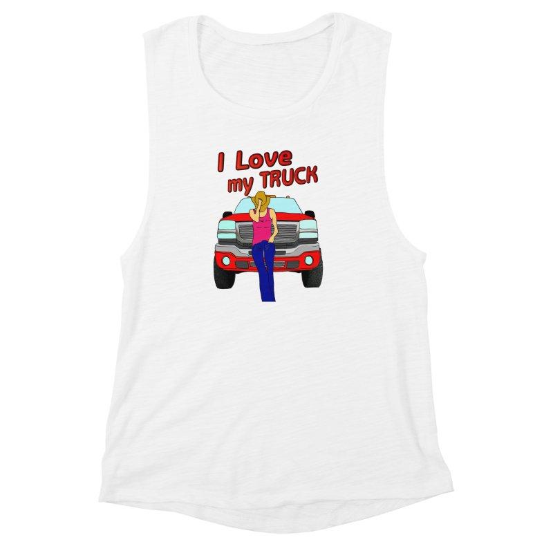 Girls love Trucks Women's Muscle Tank by nicolekieferdesign's Artist Shop
