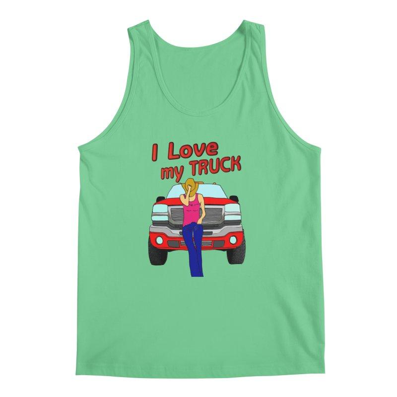 Girls love Trucks Men's Regular Tank by nicolekieferdesign's Artist Shop