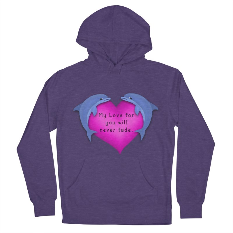 Dolphin Love Women's French Terry Pullover Hoody by nicolekieferdesign's Artist Shop