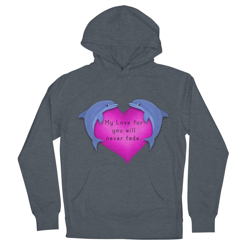 Dolphin Love Men's French Terry Pullover Hoody by nicolekieferdesign's Artist Shop