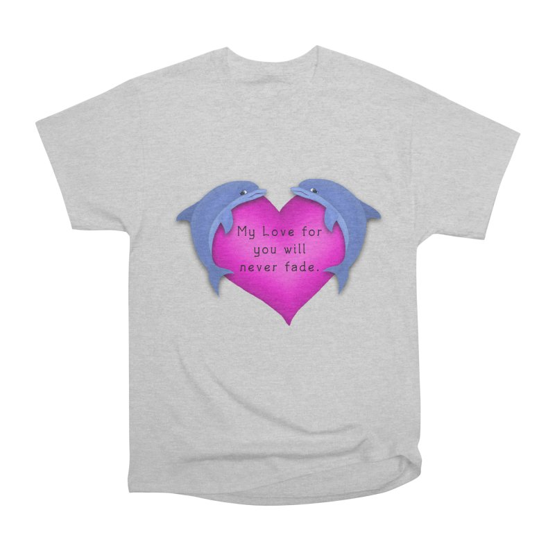 Dolphin Love Women's Heavyweight Unisex T-Shirt by nicolekieferdesign's Artist Shop