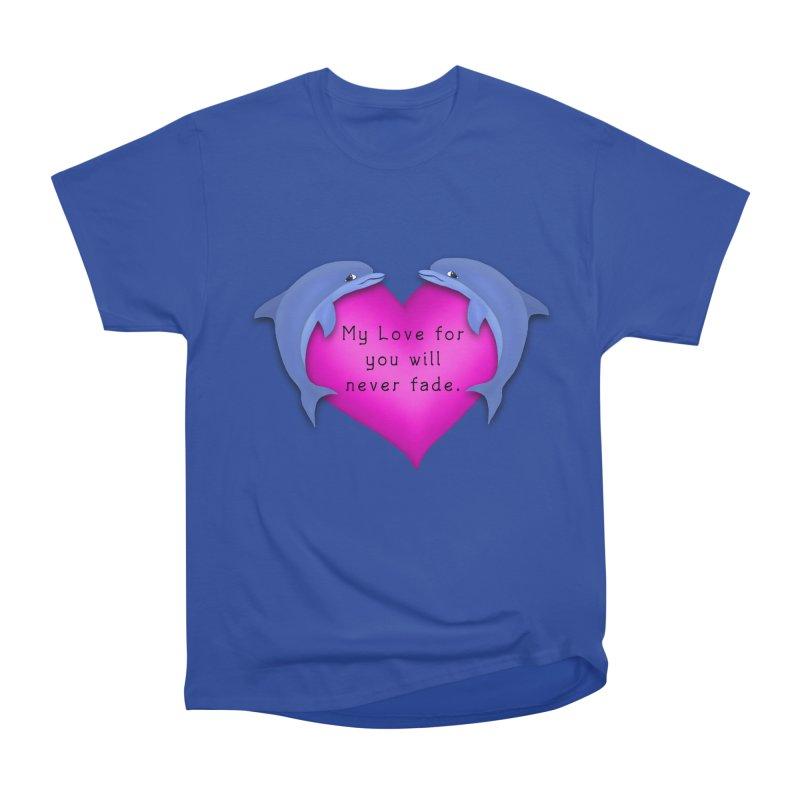 Dolphin Love Men's Heavyweight T-Shirt by nicolekieferdesign's Artist Shop