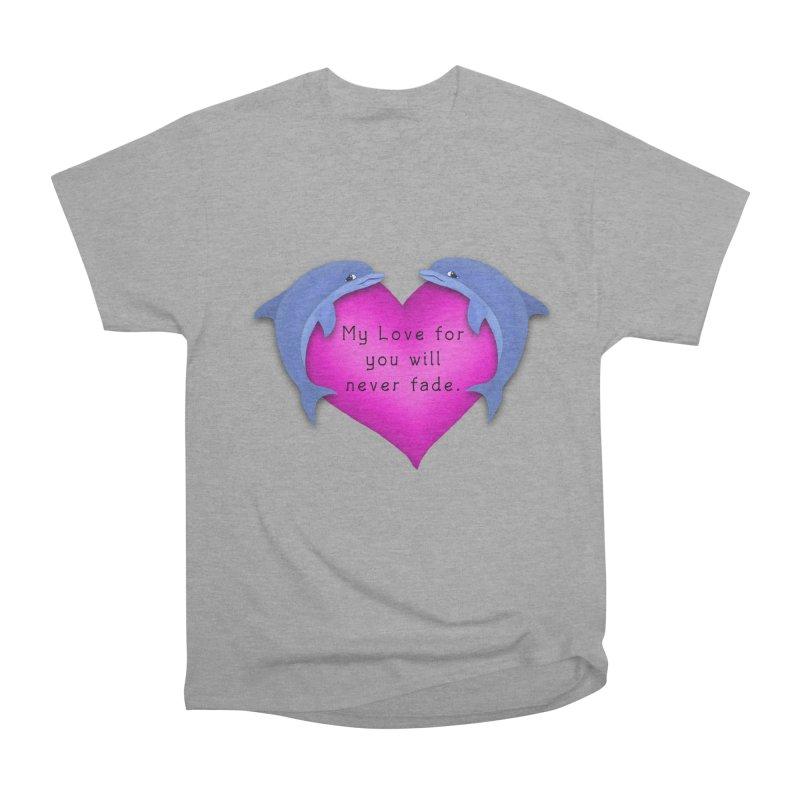 Dolphin Love Men's Classic T-Shirt by nicolekieferdesign's Artist Shop