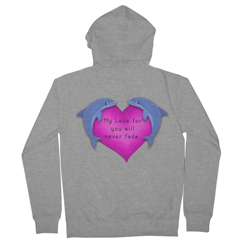 Dolphin Love Women's French Terry Zip-Up Hoody by nicolekieferdesign's Artist Shop