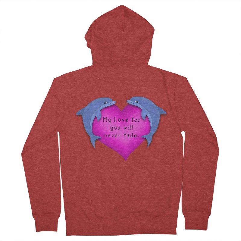 Dolphin Love Women's French Terry Zip-Up Hoody by nicolekieferdesign's Artist Shop