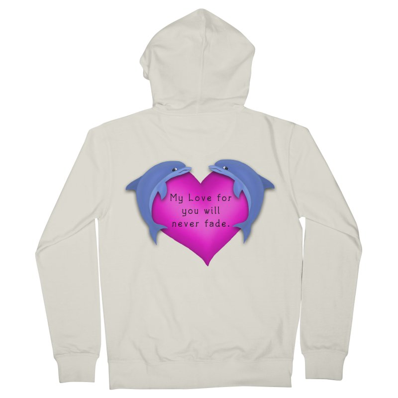 Dolphin Love Men's Zip-Up Hoody by nicolekieferdesign's Artist Shop