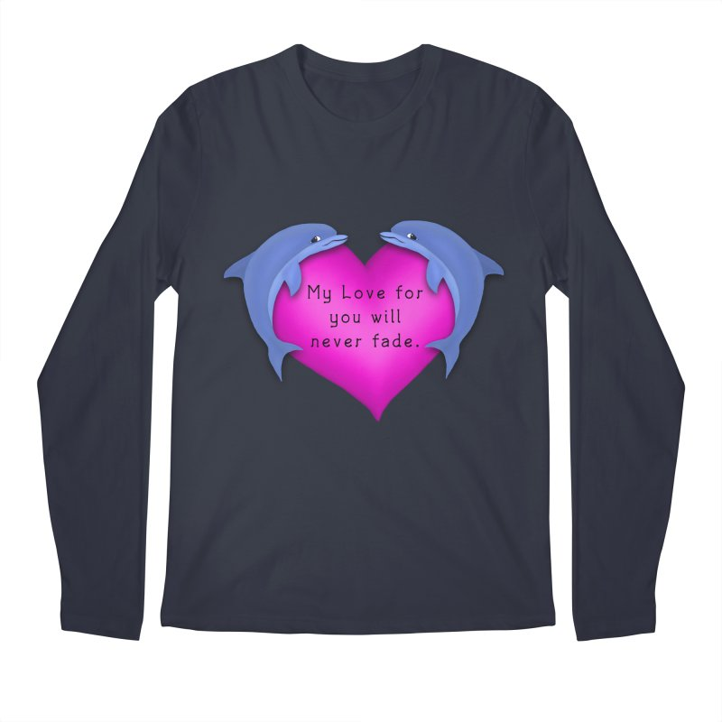 Dolphin Love Men's Regular Longsleeve T-Shirt by nicolekieferdesign's Artist Shop