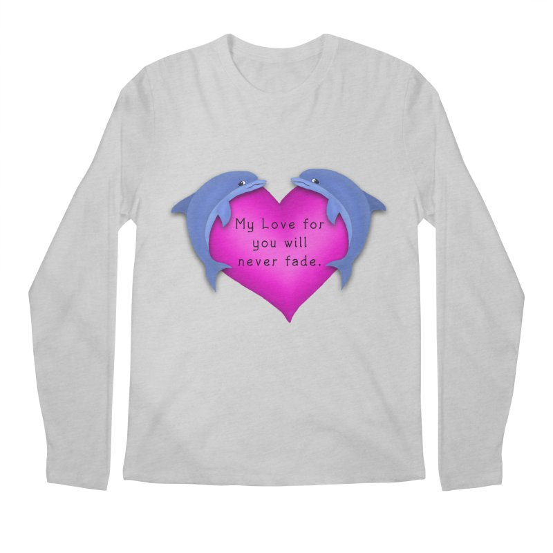 Dolphin Love Men's Longsleeve T-Shirt by nicolekieferdesign's Artist Shop