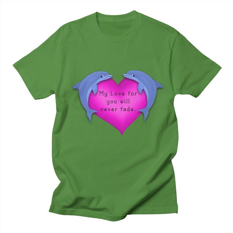 Dolphin Love Men's T-Shirt by nicolekieferdesign's Artist Shop