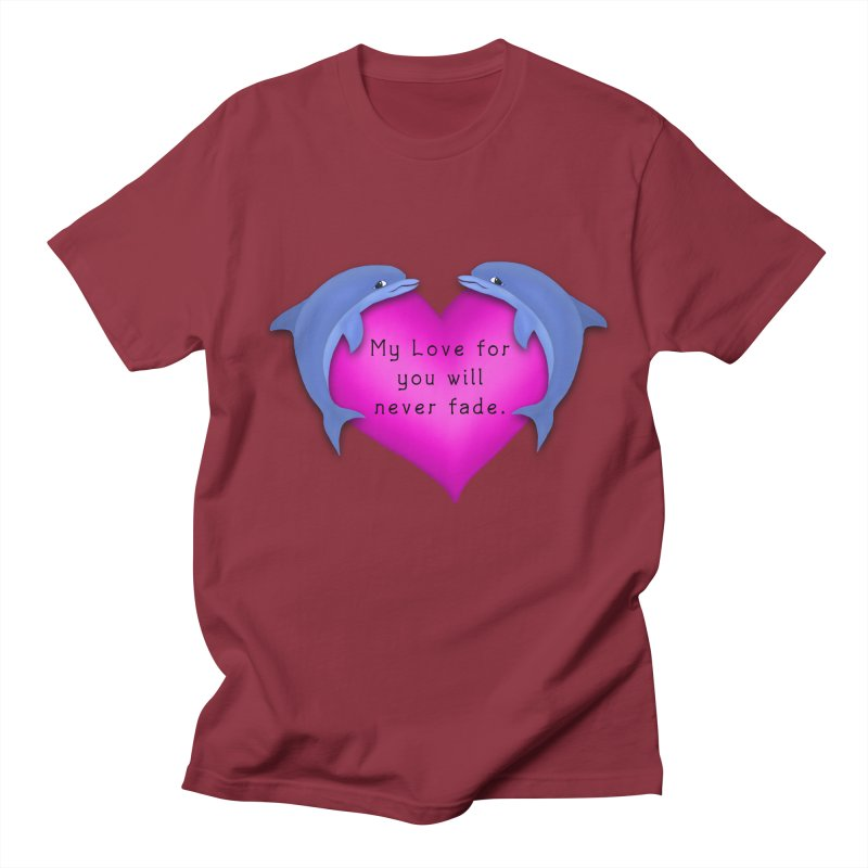Dolphin Love Men's Regular T-Shirt by nicolekieferdesign's Artist Shop