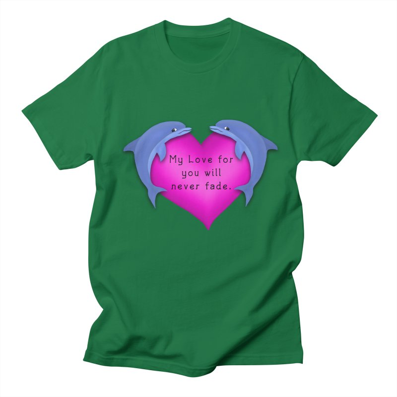 Dolphin Love Women's Regular Unisex T-Shirt by nicolekieferdesign's Artist Shop
