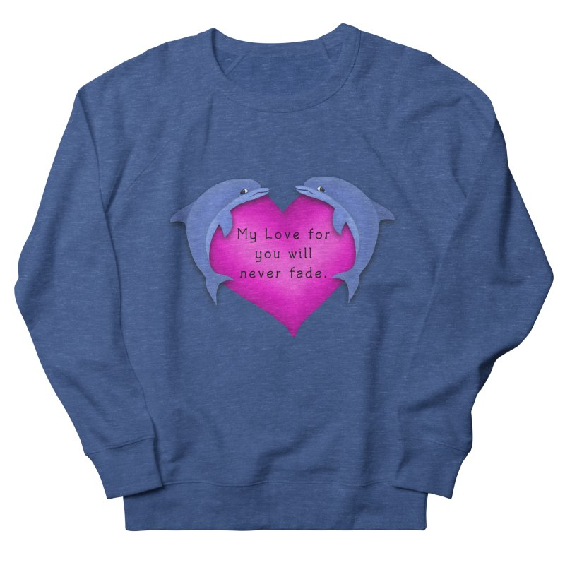 Dolphin Love Women's French Terry Sweatshirt by nicolekieferdesign's Artist Shop