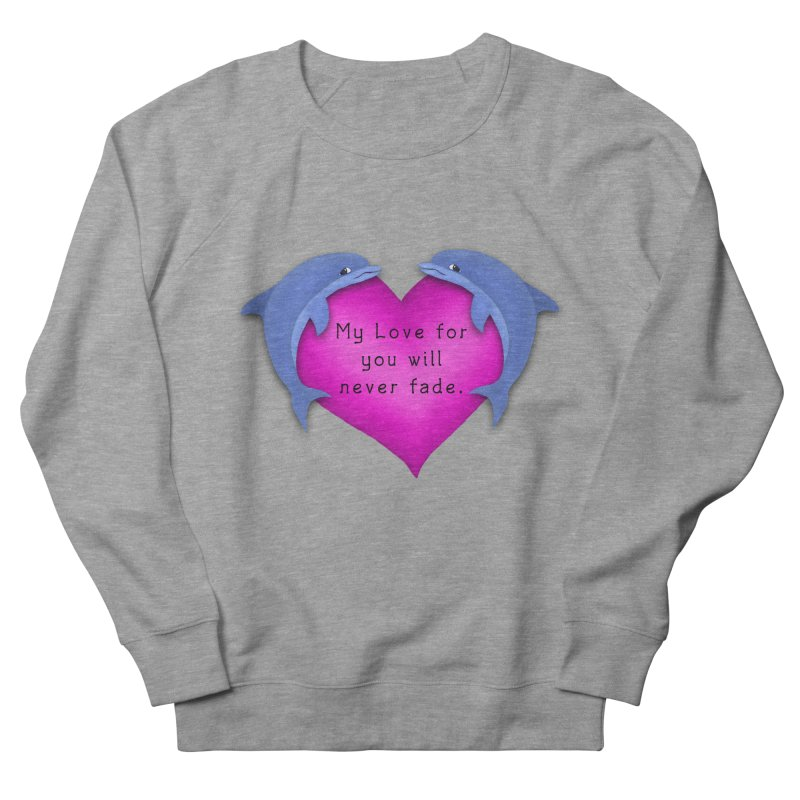 Dolphin Love Women's French Terry Sweatshirt by nicolekieferdesign's Artist Shop